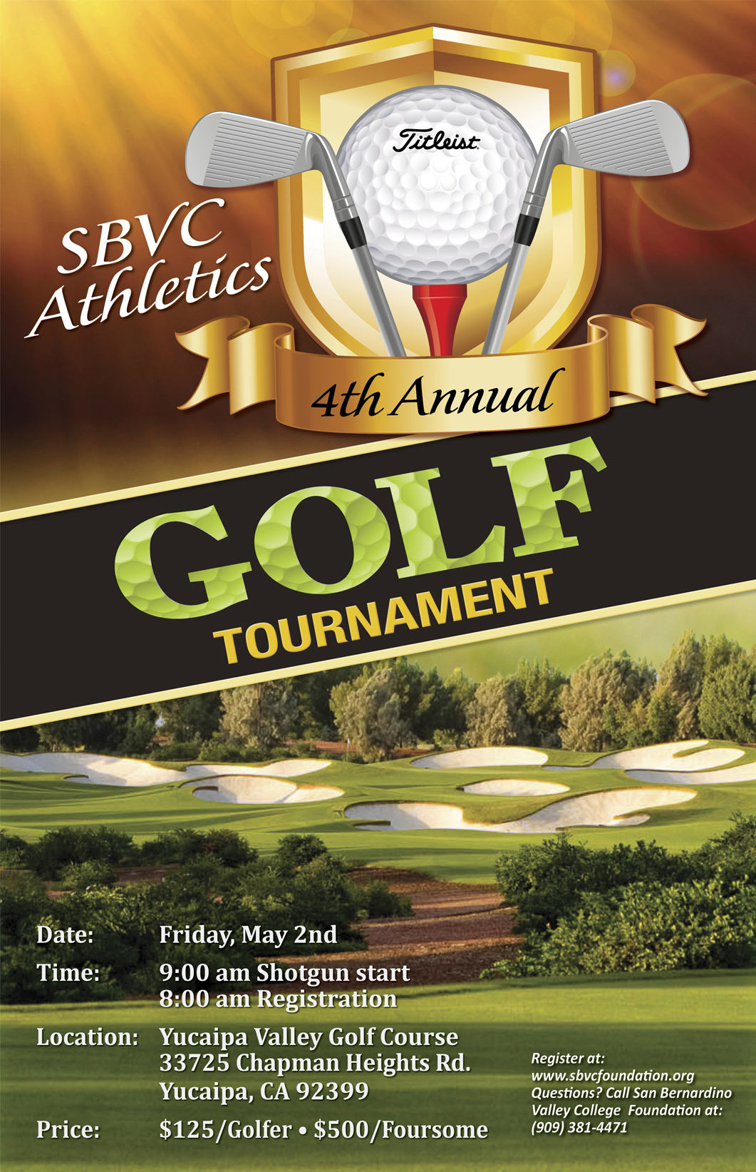 Click here to register for the golf tournament